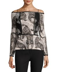 Yigal Azrouël - Off-the-shoulder Cheetah Top - Lyst