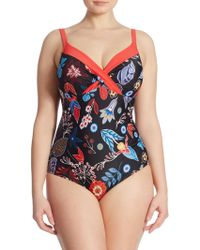 Marina Rinaldi - One-piece Scilla Printed Swimsuit - Lyst