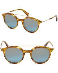 Web - Round Tortoise Shell Sunglasses - Lyst