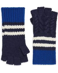 Burberry - Chunky Cable Fingerless Gloves - Lyst