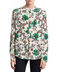 Isabel Marant - Rusack Printed Silk Shirt - Lyst