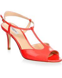L.K.Bennett - Patent Leather Slingback Sandals - Lyst
