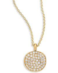 Ippolita - Stardust Diamond & 18k Yellow Gold Disc Pendant Necklace - Lyst