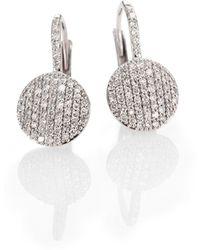 Phillips House - Diamond & 14k White Gold Disc Drop Earrings - Lyst