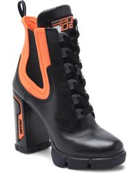 6610dd23044 Prada - Chunky Lace-up Boots - Lyst