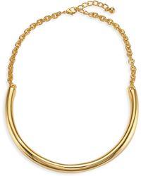 Kenneth Jay Lane - Polished Gold Bar Necklace - Lyst