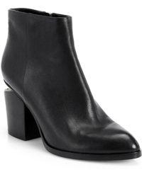 Alexander Wang - Gabi Leather Almond Toe Booties - Lyst
