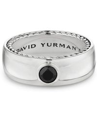 David Yurman - Streamline Sterling Silver & Black Diamond Ring - Lyst