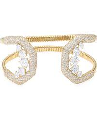 Adriana Orsini - Pave Crystal Flexible Wide Cuff Bracelet - Lyst