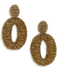 Oscar de la Renta - Classic Oscar Beaded O Clip-on Earrings - Lyst