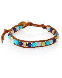 Chan Luu | Lapis Lazuli, Turquoise, Amazonite & Leather Beaded Bracelet | Lyst