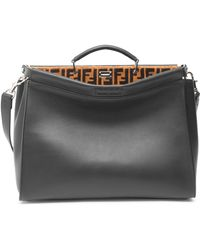 Fendi - Grace Medium Leather Briefcase - Lyst