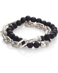 John Hardy | Classic Chain Collection Beads & Link Bracelet | Lyst