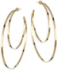 Jennifer Zeuner - Zume Double Hoop 18k Yellow Vermeil Earrings - Lyst