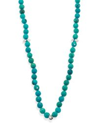 Nest | Long Turquoise Spiked Beaded Necklace | Lyst