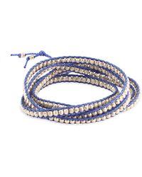 Chan Luu - Silver & Periwinkle Cord Bracelet - Lyst