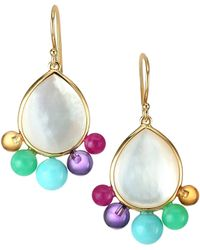 Ippolita - Nova 18k Yellow Gold, Mother-of-pearl & Semi-precious Multi-stone Earrings - Lyst