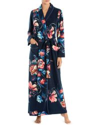 Jonquil - Floral French Terry Long Robe - Lyst