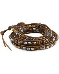 Chan Luu - Pyrite Mix Wrap Bracelet - Lyst