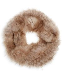 Saks Fifth Avenue Natural Knitted Sable Headband