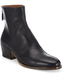 Givenchy - Leather Zip Boots - Lyst