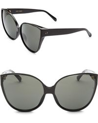 Linda Farrow - 62mm Modified Cat Eye Sunglasses - Lyst