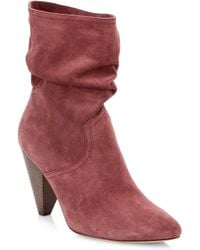 Joie - Gabbissy Slouchy Suede Booties - Lyst