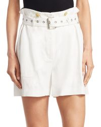 3.1 Phillip Lim - Utility Belted Cotton Shorts - Lyst