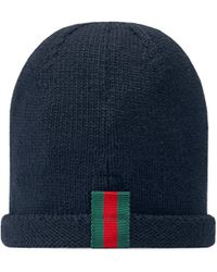 9196274692d Lyst - Gucci Gg Pattern Baseball Hat with Web Detail in Blue for Men