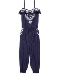 Melissa Odabash - Little Girl's & Girl's Stella Embroidered Jumpsuit - Lyst