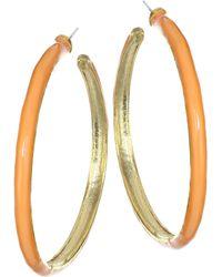 Kenneth Jay Lane - Enamel Hoop Earrings - Lyst