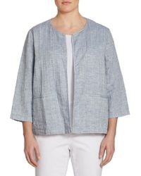 Eileen Fisher - Quilted Gauze Jacket - Lyst