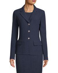 St. John - Ana Boucle Knit Notch Collar Jacket - Lyst