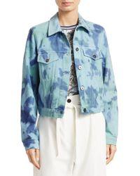 16b97895dc1bd Lyst - Valentino Kimono Tie-front Tie-dye Jacket in Blue