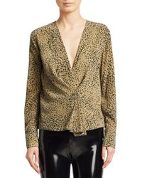 Rag & Bone - Shields Leopard Print Blouse - Lyst