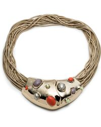 Alexis Bittar - 10k Gold Stone Bib Necklace - Lyst