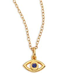 Ileana Makri - Mini Eye Crystal Pendant Necklace - Lyst
