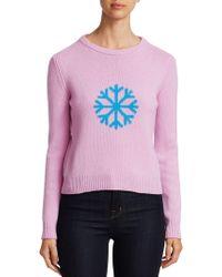 Alberta Ferretti - Snowflake Print Sweater - Lyst