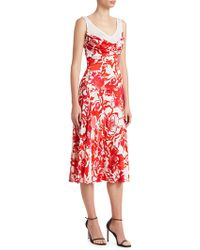 Roberto Cavalli - Rose Print Liquid Viscose Jersey Dress - Lyst