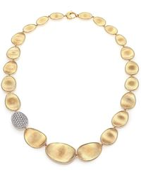 Marco Bicego - Lunaria Diamond & 18k Yellow Gold Single-station Collar Necklace - Lyst