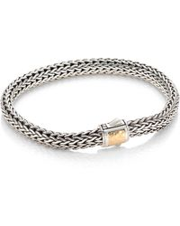 John Hardy - Classic Chain Hammered Silver Small Chain Bracelet - Lyst