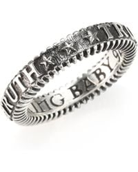 King Baby Studio - Truth Sterling Silver Stackable Ring - Lyst