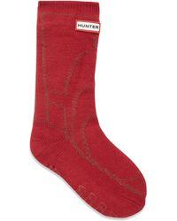 HUNTER - Kid's Graphic Boot Slipper Socks - Lyst
