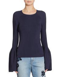 Jonathan Simkhai - Signature Bell Sleeve Knit Sweater - Lyst