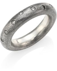 Rene Escobar - Diamond & Sterling Silver Rounded Band Ring - Lyst