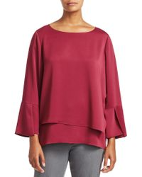 NIC+ZOE - Wrapped Up Tiered Bell Sleeve Top - Lyst
