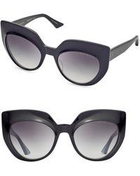 3301632ae4e1 Dita Eyewear - Women s Conique 53mm Cat-eye Sunglasses - Black - Lyst