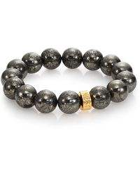 Nest - Pyrite Beaded Stretch Bracelet - Lyst
