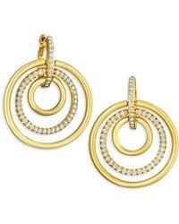 Carelle - Moderne Diamond & 18k Yellow Gold Trio Earrings - Lyst