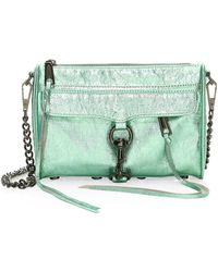 Rebecca Minkoff | Mini Mac Metallic Leather Shoulder Bag | Lyst